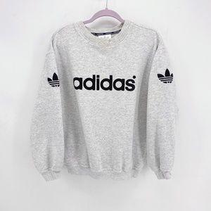 Men's Vintage Adidas Trefoil Logo Crew Sweatshirt